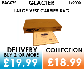 glacier large carrier bags