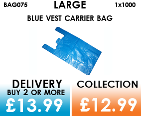 large blue vest carrier