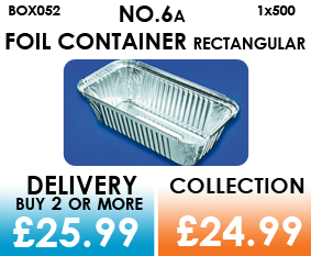 no.6a rectangular foil container
