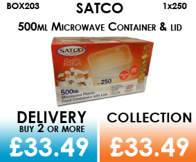 satco 500ml container and lids