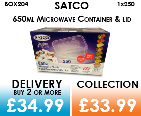 satco 650ml pots and lids