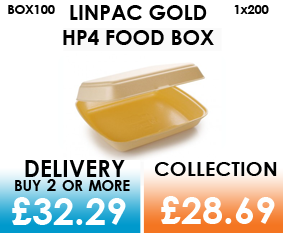 gold single compartment food box