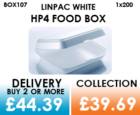 white single compartment food box