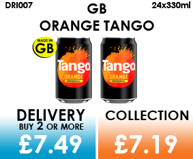 GB orange tango cans