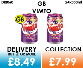 GB vimto cans
