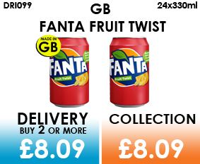 GB fanta fruit twist cans