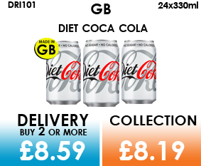 GB diet coca cola cans