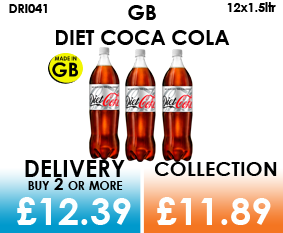 gb diet coca cola 1.5 litre bottles