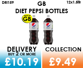 gb diet pepsi 1.5 litre bottles