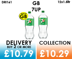 gb 7up 1.5 litre bottles