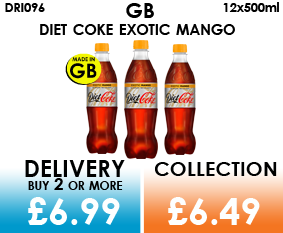 diet coke exotic mango 500ml