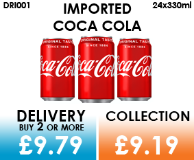 imported coca cola cans