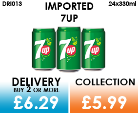 imported 7up cans