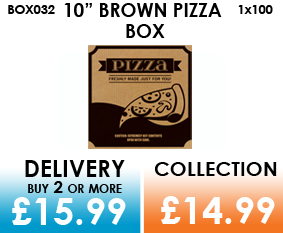 10 brown pizza box