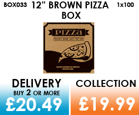 12 brown pizza box