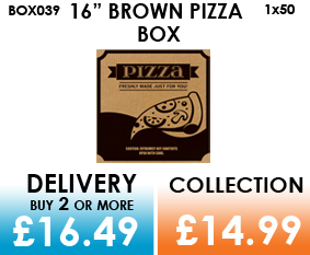 16 brown pizza box