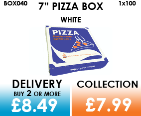 7 white pizza box
