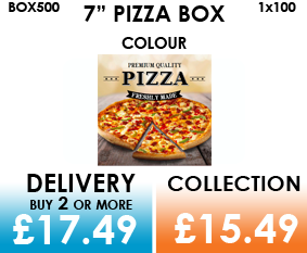 7 colour pizza box