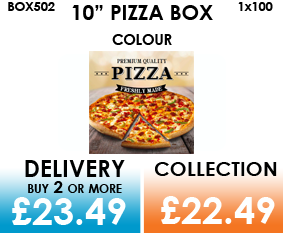 10 colour pizza box