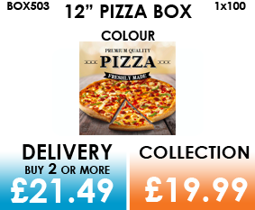 12 colour pizza box