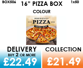 16 colour pizza box