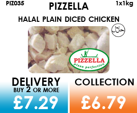 pizzella plain diced chicken