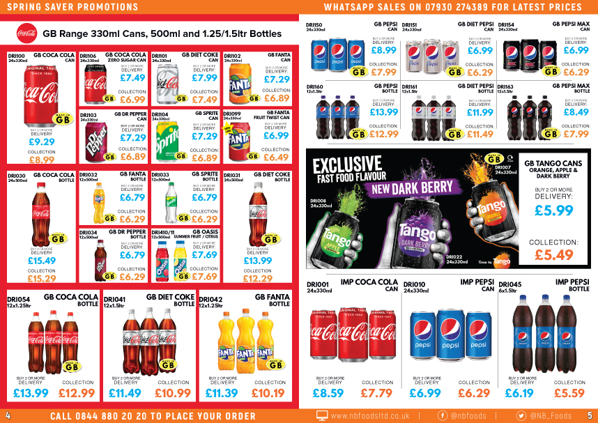 N and B Foods April - May 2021 Promotions