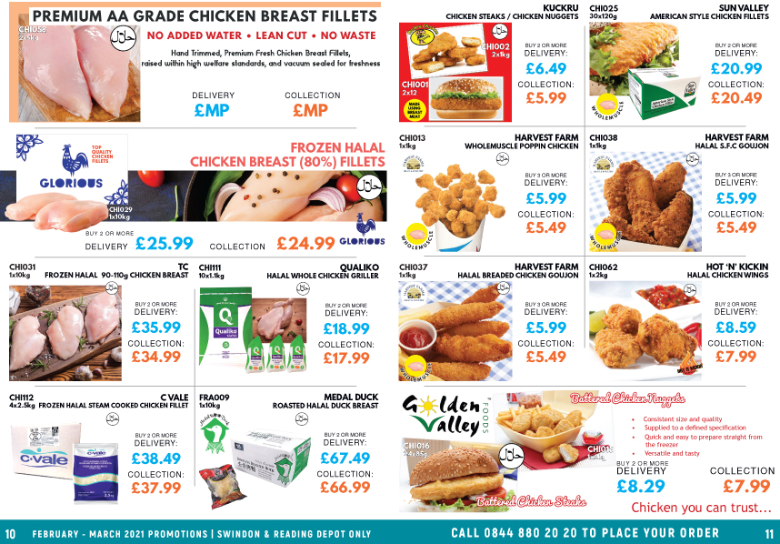 N and B Foods February - March 2021 Promotions