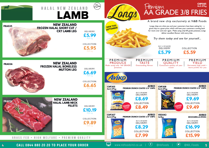 N and B Foods September - October 2020 Promotions